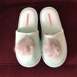 Victoria Secret Mint Green Slippers